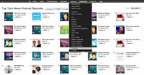 iTunes Podcast Charts